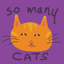 So Many Cats comic strip panel drawing
